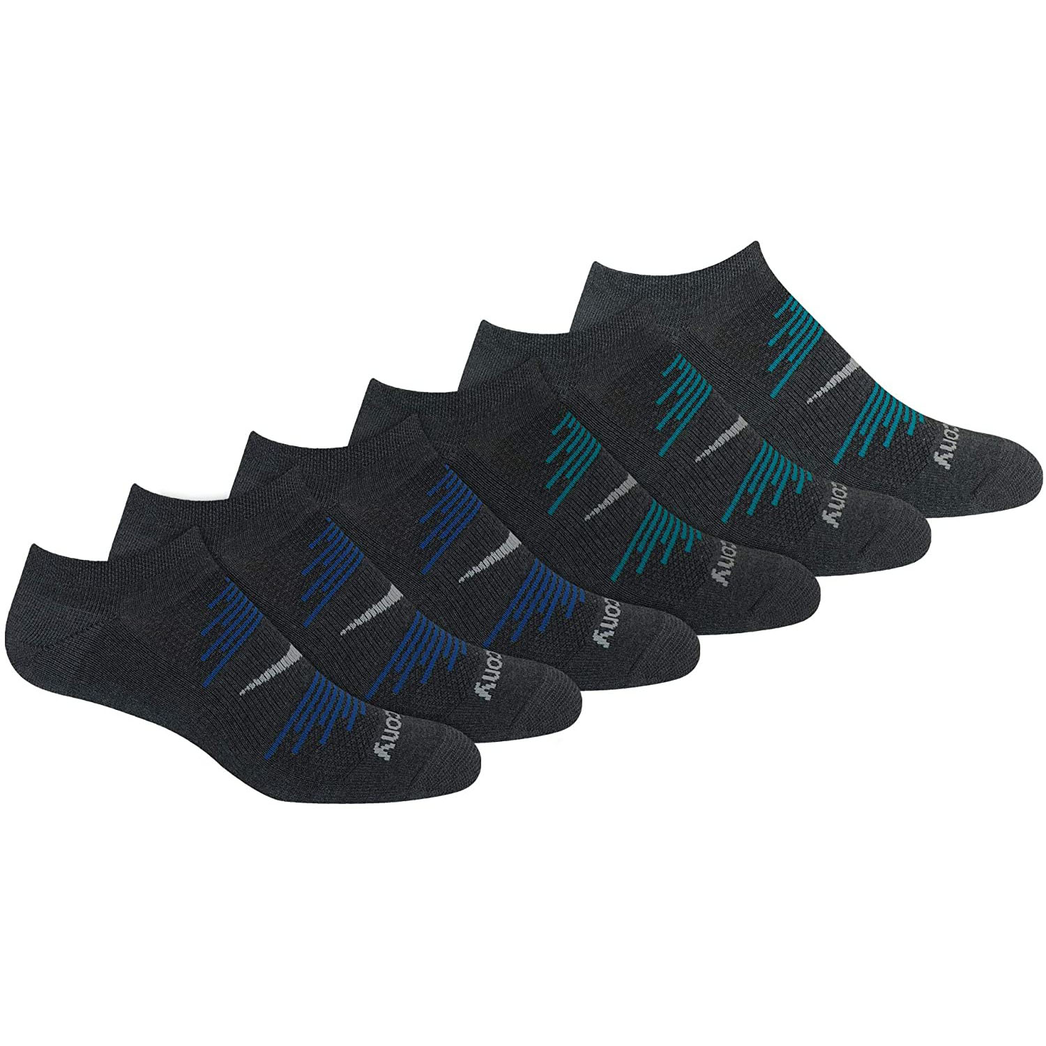 Saucony Men's Ventilating Performance No-Show Socks