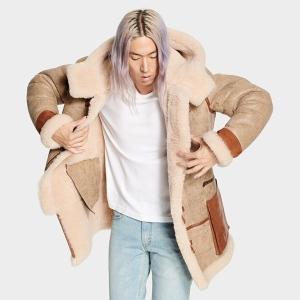 UGG Yates Shearling Hooded Coat