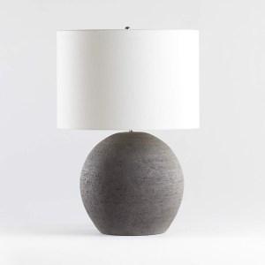 Crate & Barrel Esphera Grey Round Table Lamp