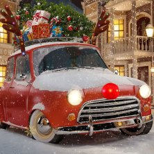 deck out your car with these fun and festive christmas decorations