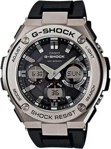 g shock watches: Casio Men's G Shock Stainless Steel Watch (GST-S110-1ACR)