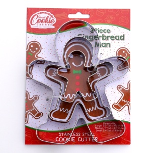 gingerbread cookie cutter holiday set, cookie cutters
