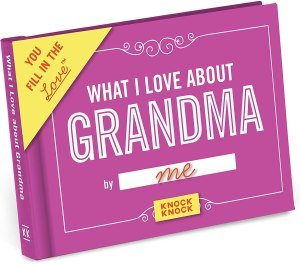 what I love about grandma book, gifts for grandparents