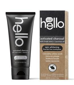 hello activated charcoal toothpaste, the best whitening toothpaste