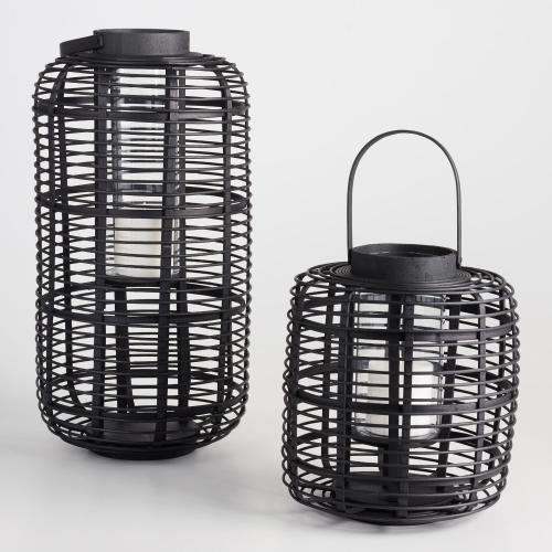 black bamboo lanterns