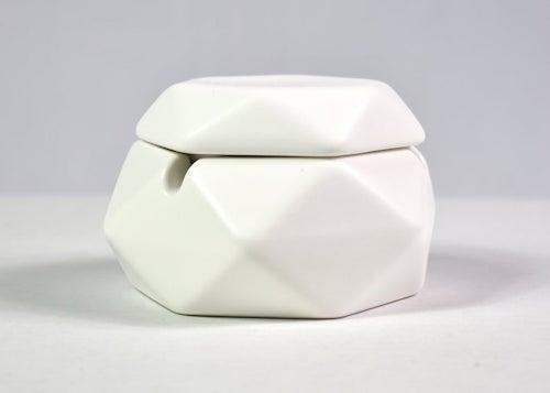 Velvet Toke Matte White Porcelain Lidded Ash Tray