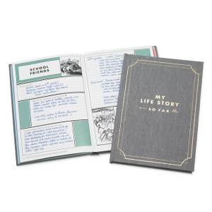 my life story so far journal, gifts for grandparents