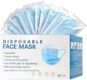 mystcare Disposable Face Mask 50-Pack