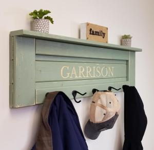 personalized coat rack, personalized gifts, best personalized gifts