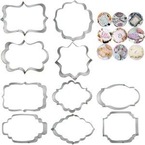 10-piece plaque cookie cutter set, cookie cutters