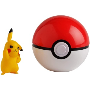 Pokémon Official Pikachu Clip and Go Pokéball