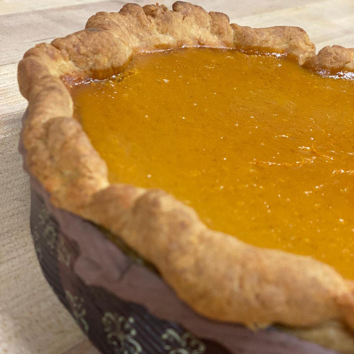 Senza Gluten Pumpkin Pie