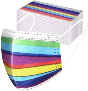 ApePal Rainbow Disposable Face Masks