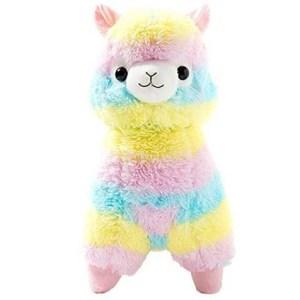 Cuddly Llama Rainbow Alpaca Doll