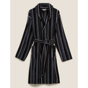 Marks & Spencer Pure Cotton Striped Dressing Gown