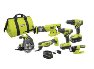 home depot black friday sale - RYOBI Lithium-Ion Cordless Combo Kit