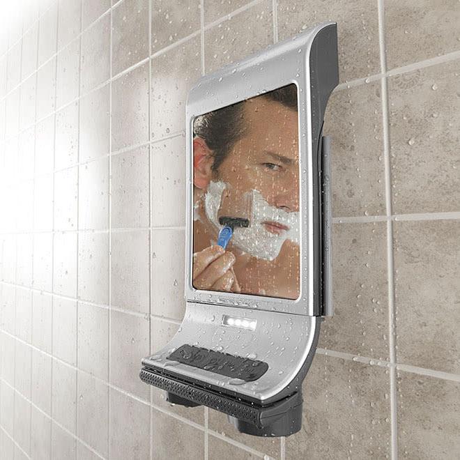Sharper Image Fog-Free Shower Mirror and Bluetooth Speaker