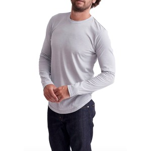 Goodlife Triblend Scallop Long Sleeve Crewneck T-Shirt