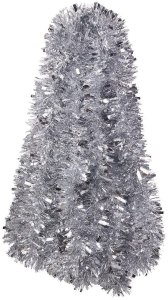 silver tinsel decoration, budget Christmas gifts