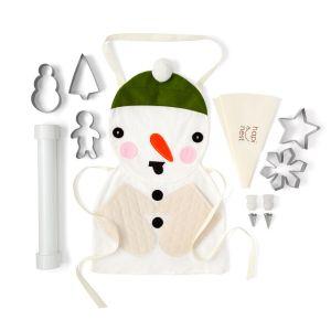 snowman cookie baking set, cookie cutters