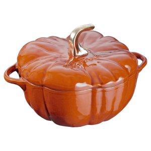 staub burnt orange cast iron pot