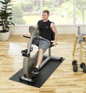 SuperMats equipment mat, spin bike accessories