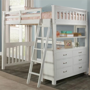 Hillsdale Furniture Full Highlands Loft Bed White