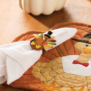 the holiday aisle turkey metal napkin ring