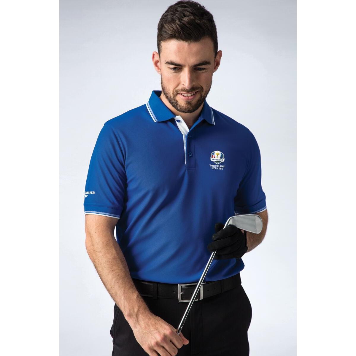 Glenmuir Official Ryder Cup 2021 Pique Golf Polo Shirt, best golf shirts for men