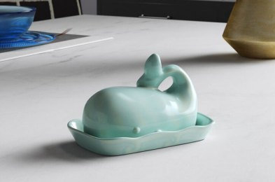 you don't have to butter us up to buy one of these cute butter dishes