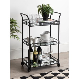 Menachem Metal 3 Tier Tray Bar Cart