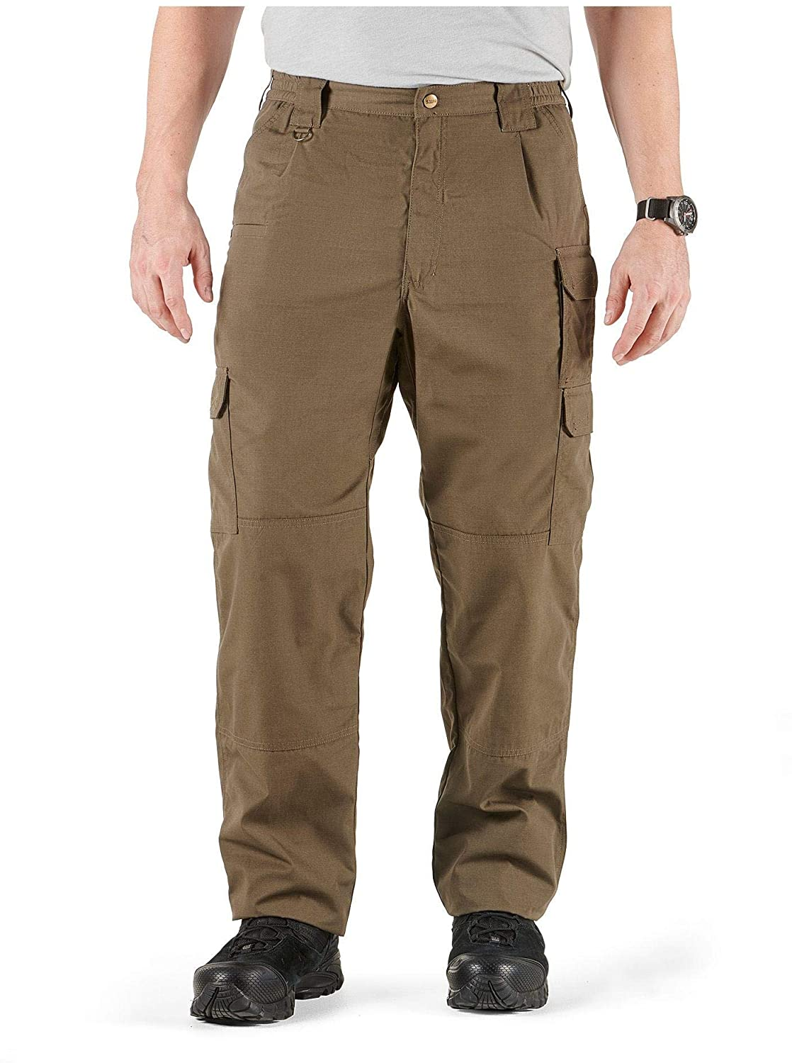 Man wears 5.11 Tactical Pants in dark khaki