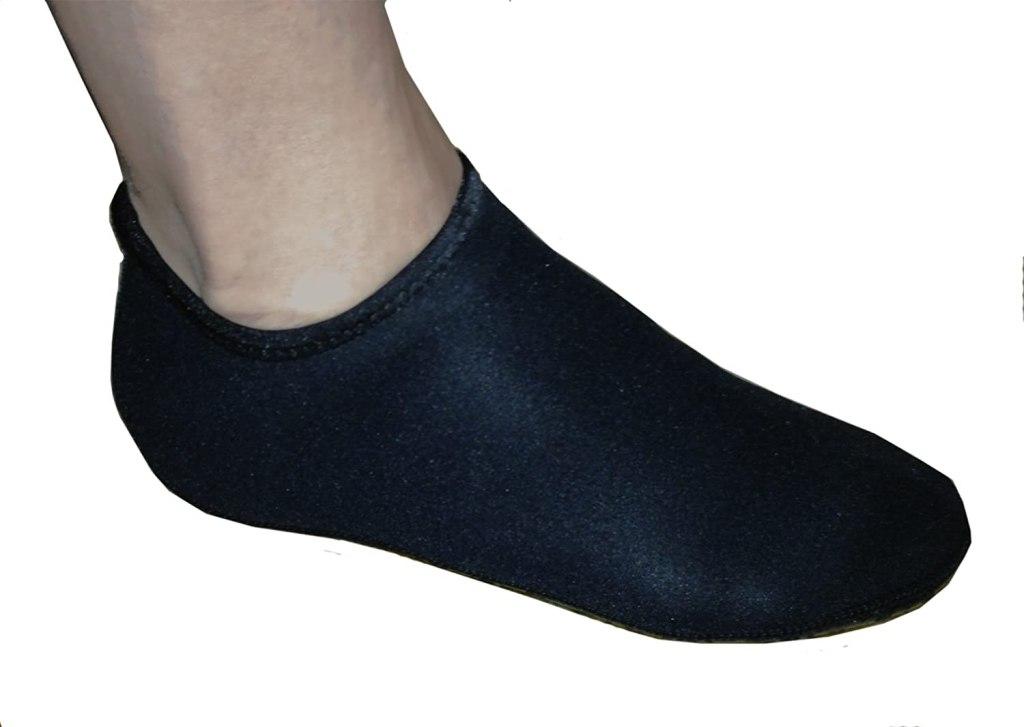 black neoprene snorkel socks