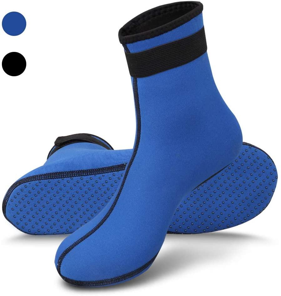 blue neoprene socks