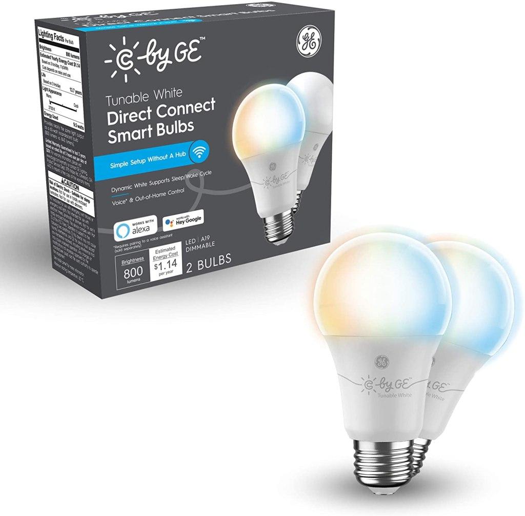 C by GE Tunable White LED Wi-Fi Bulbs, sleep aid products