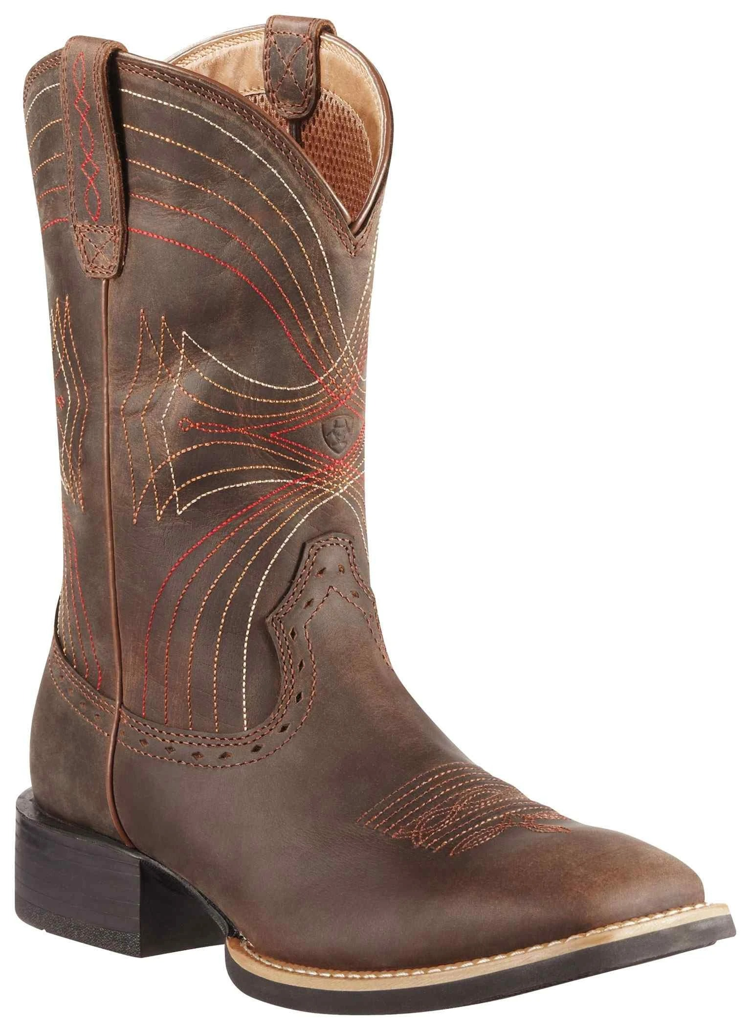 Ariat Men's Sport Wide Square Toe Distressed Brown Western Boots