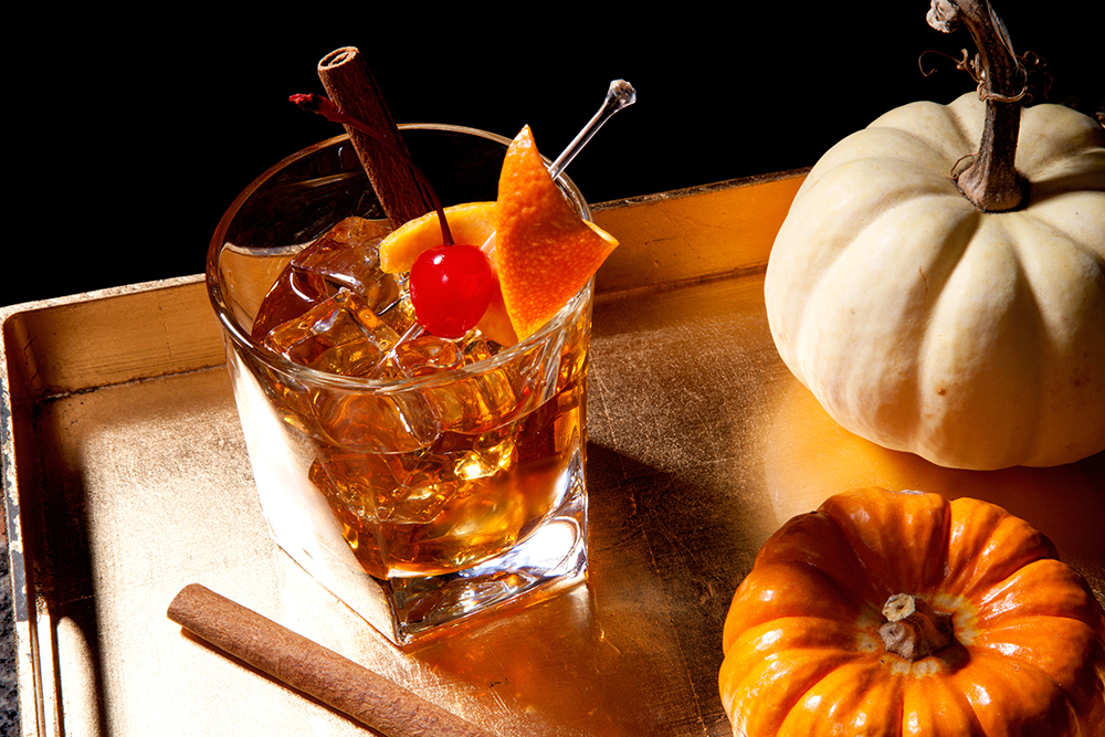cinnamon old fashioned, best winter cocktails