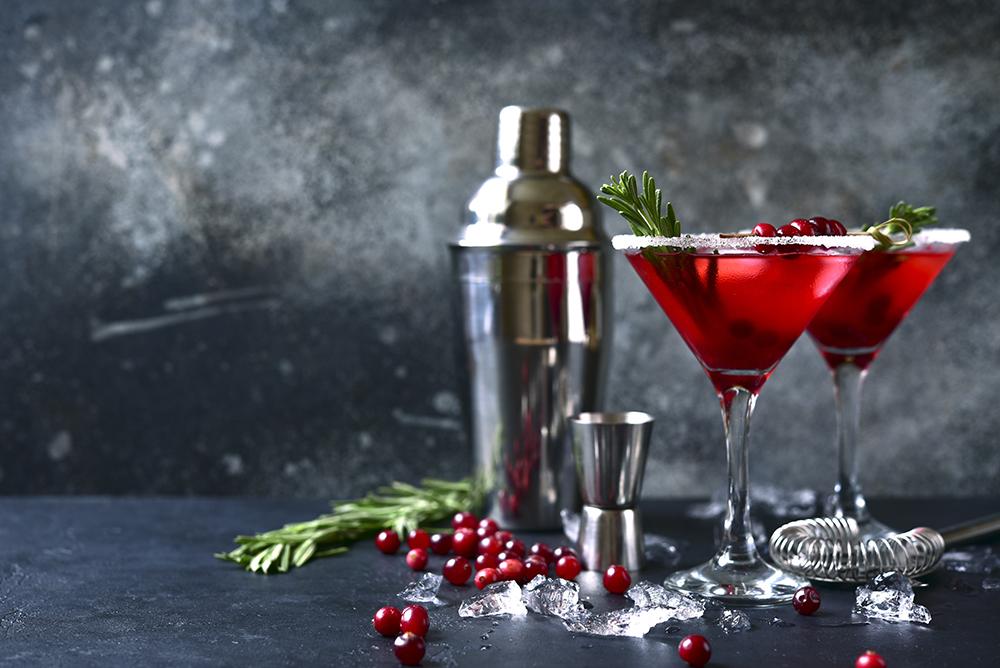 cranberry margarita, best winter cocktails