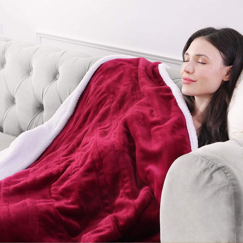 N\B Electric Heated Sherpa Blanket