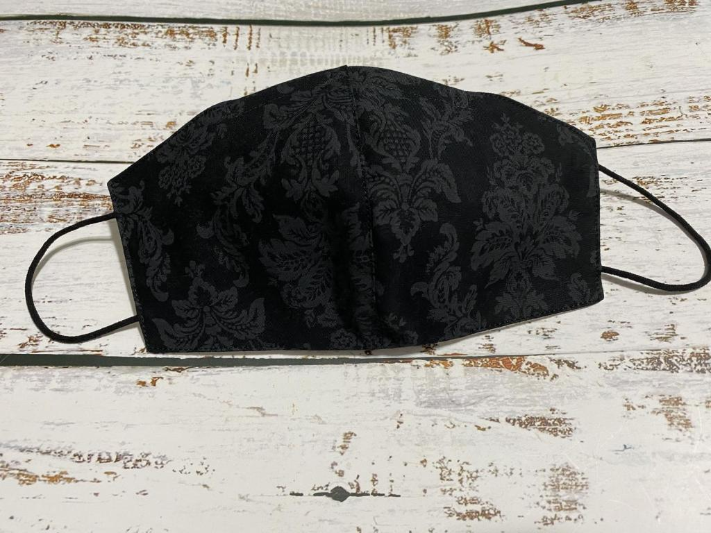 Black Damask Cotton Mask