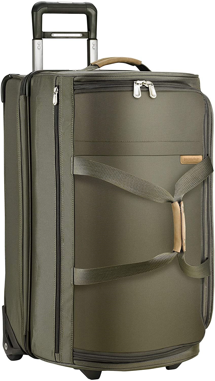 27-inch Briggs & Riley Upright Rolling Duffle Bag in Olive