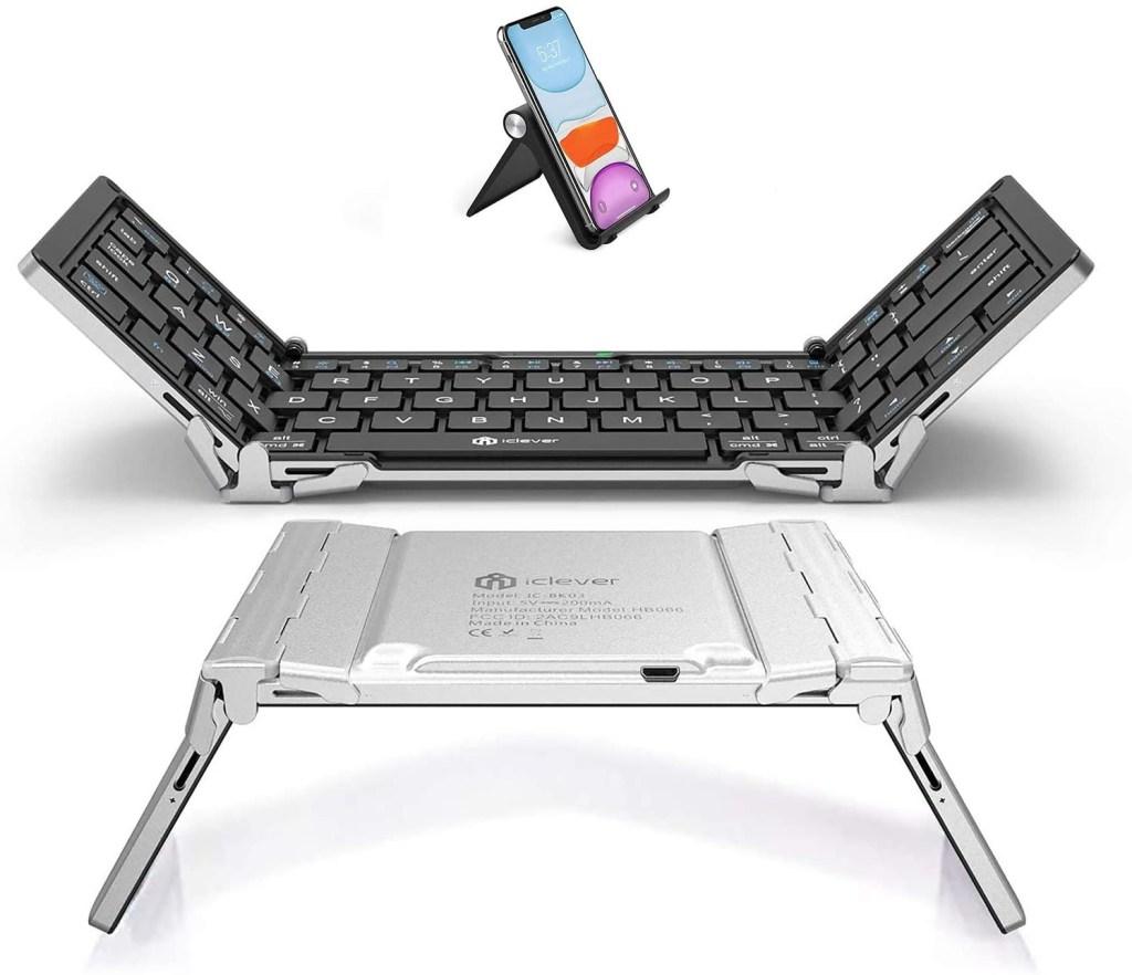 iClever BK03 Mini Foldable BT 5.1 Wireless Keyboard