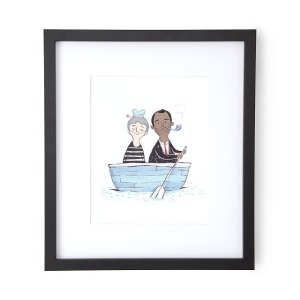 Custom Love Boat Portrait, best gifts for couples