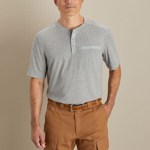Duluth Trading Men's TradeTek Dri-Release Short-Sleeve Henley shirt, best henley shirts