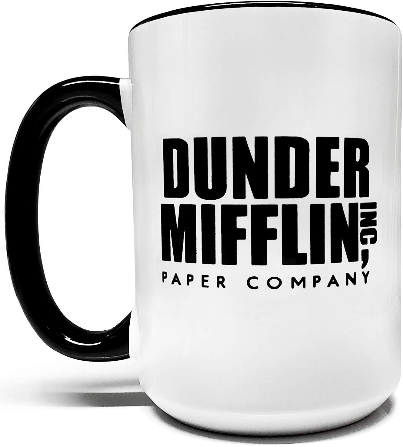 Meanmuggin Dunder Mifflin Two-Tone Coffee Mug, best gifts for coworkers