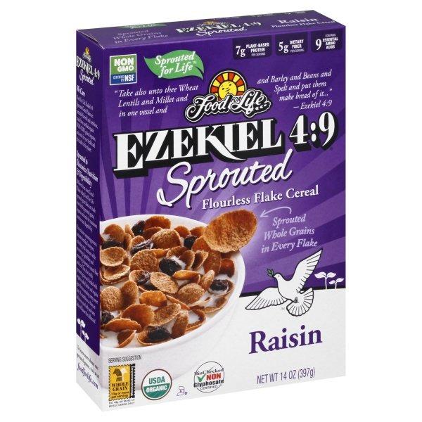 Ezekiel-4-9-Sprouted-Grain-Raisin-Flake-Cereal