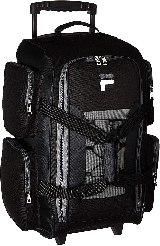 Fila 22-inch rolling duffle bag in black
