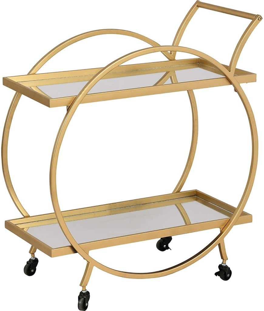 FirsTime & Co. Gold Odessa Bar Cart