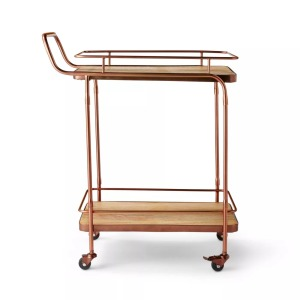 Levi's® x Target Metal & Wood Bar Cart Aged Copper Finish