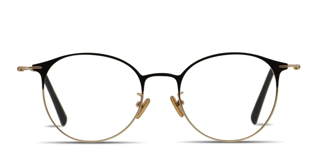 best blue light glasses - GlassesUSA Ottoto Mexicali glasses in black and gold